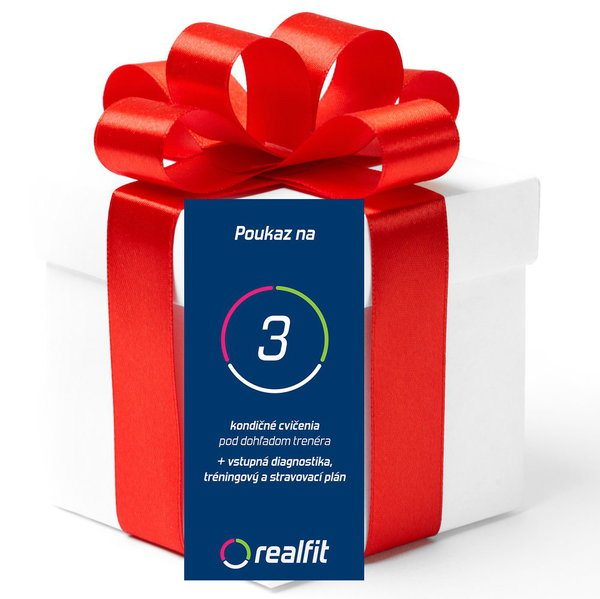 Darčekový poukaz na 3 tréningy s trénerom a vstupnú diagnostiku