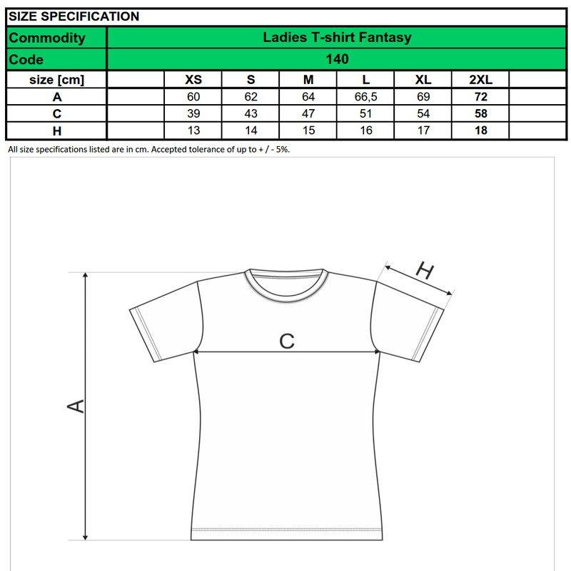 dámske fitness tričko - dostupné veľkosti a strih