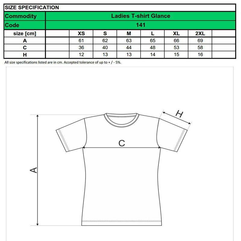 dámske tričko čierne - dostupné veľkosti a strih