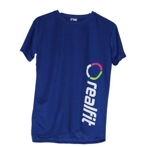 fitness tričko pánske modré